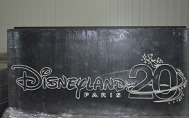Etched logo